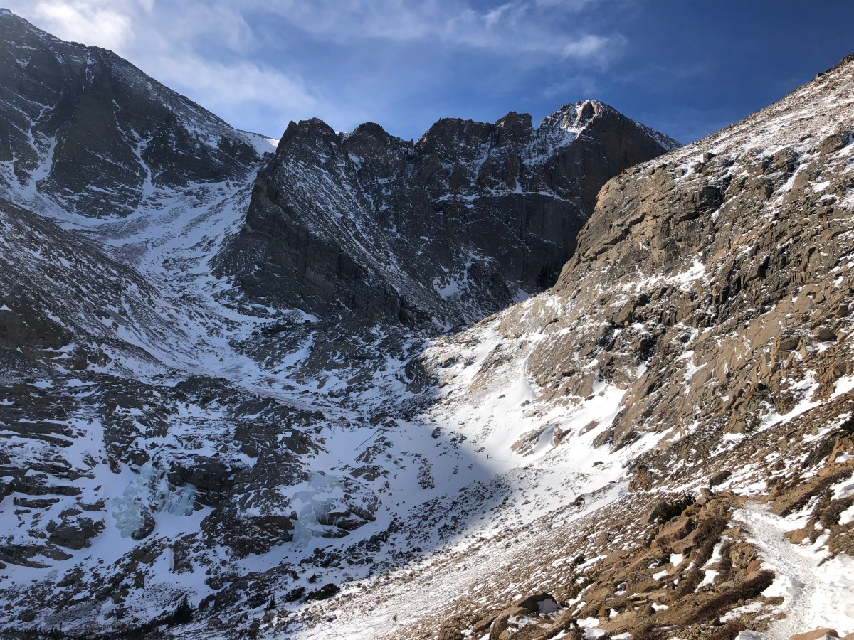 A Winter Hike on the Long's Peak Trail